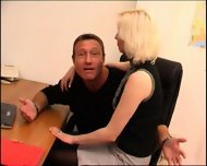 Office secretary in pantyhose stripped and fucked - scene 1