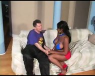 black girl with big tits gets shtupped - scene 2