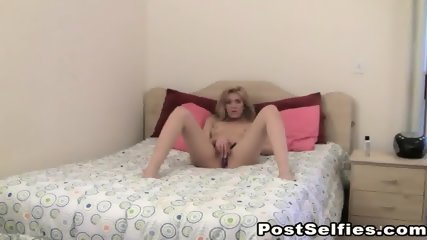 Alluring Blonde Babe Toys And Masturbates Her Pussy - scene 12
