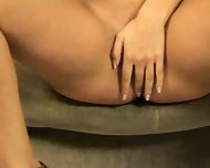 Lovely lass plays on a love seat - scene 4