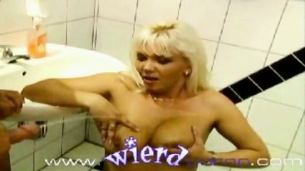 German pissing orgy in a public bathroom - scene 5