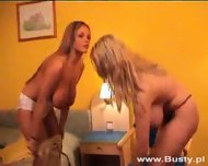 Ines Cudna and Cassandra playing with Oil - scene 1