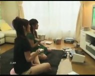 Japanese girls fucked while playing Wii - scene 1