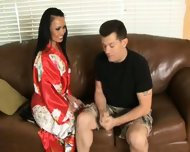 Mya Luanna gives erotic soapy massage - scene 1