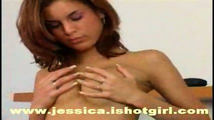 Jessica alone home, playing with sweet pussy:) - scene 5