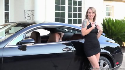 Natalie Haze Solo Action In A Bentley