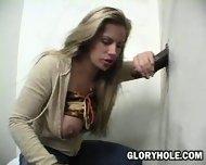 Blonde sucking huge Cock - scene 2