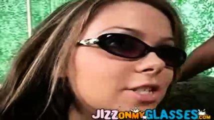 Julia Bond gets Jizz on her Glasses - scene 6
