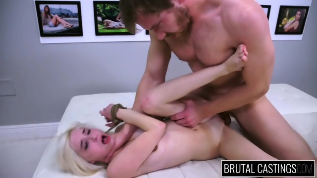Tied Blonde Gets Abused At The Casting