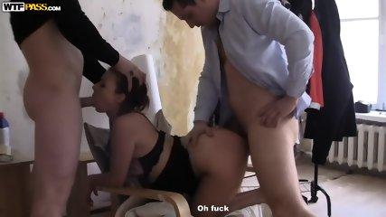 Amateur Slut Gets Double Fucked