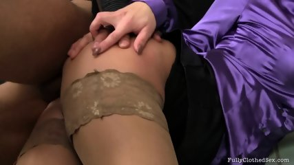Cum On Her Clothes After Hardcore Sex - scene 9