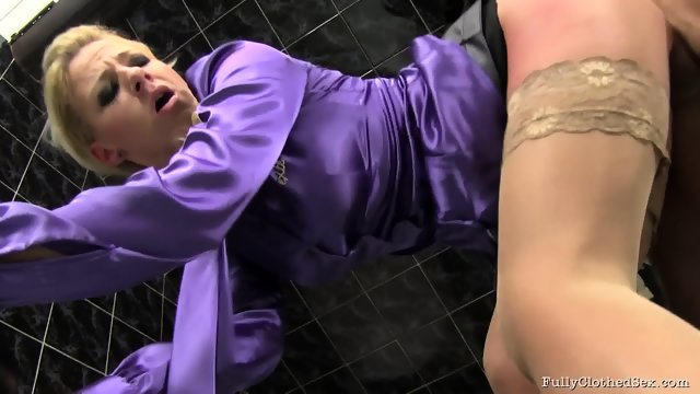 Cum On Her Clothes After Hardcore Sex