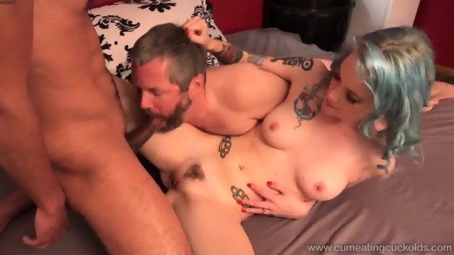 Jeze Belle Fucks A Big Black Dick In Front Of Her Cuckold