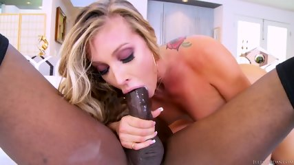 Busty Blonde Dreams About Fat Black Dick