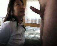 hot korean wife on knees best blowjob ever - scene 6
