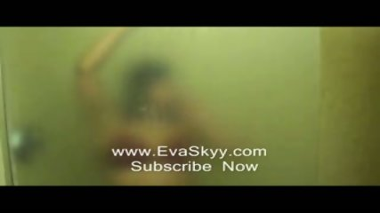 Strip Tease In Hot Wet Steamy Shower - scene 5