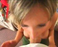 cute girl giving a hot blowjob - scene 8