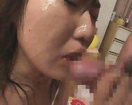 Rino Kamiya bukkake - scene 4