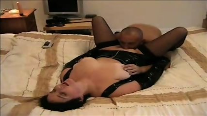 Slut PVC Blowjob - scene 9