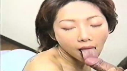 Asian Lass gives Head and fucks