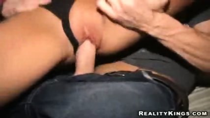 Blonde rides cock in the club - scene 11