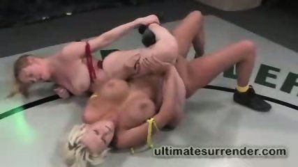 Carly Parker in a hot lesbian wrestling match - scene 8