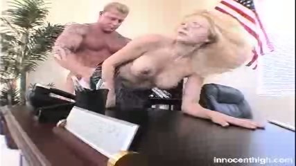 Busty homecoming Queen fucks her professor for high grades - scene 1