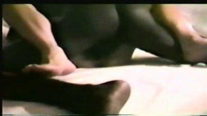Black on white (blonde) wife interracial cream pie - scene 10