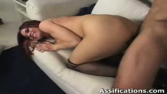 Horny chick gets screwed hard in her tight ass