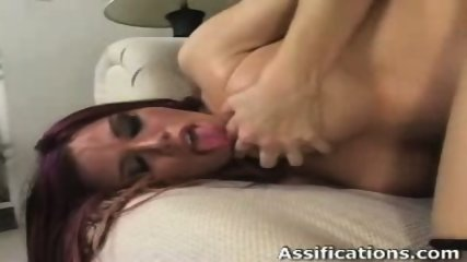 Horny chick gets screwed hard in her tight ass - scene 5