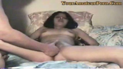 A guy is fingering his wifes wet pussy - scene 2