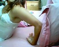 Latin Chick Playing With Herself - scene 1