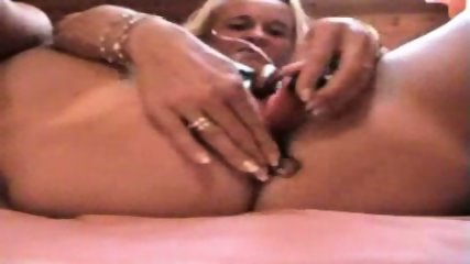 Horny blonde woman playing with her toys (part 1) - scene 11