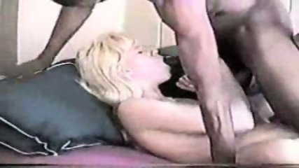 Blond enjoying a big black cock - scene 10