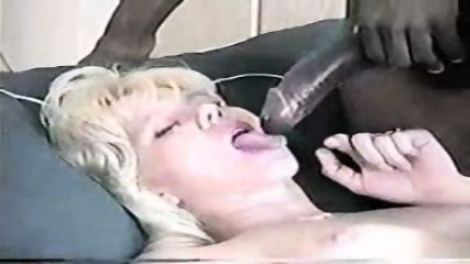 Blond enjoying a big black cock - scene 12