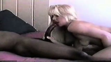Blond enjoying a big black cock - scene 2