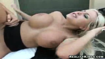 Big Titted blonded fucked on top of car - scene 6