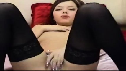 Hot Asian chick playing with her self - scene 1