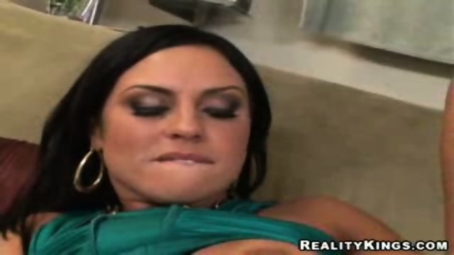 Big tittied Latina gets her asshole licked