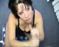 Hot Brunette Tough Cum Swallow - scene 8