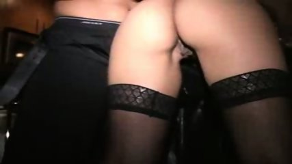 MILF fucked in kitchen at interracial orgy Pt2 - scene 7
