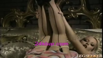 Blond Just has to show you her great Legs - scene 1