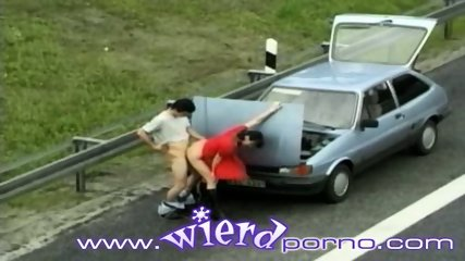 German couple fucks next to a busy highway - scene 6