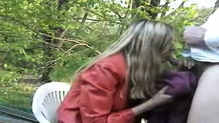 Blowjob in the garden - scene 4