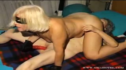 Lesbian granny action with dildo - scene 10
