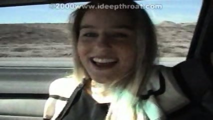 Heather serving in a Car - scene 1