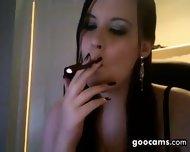 Cute Cam Slut Smoking - scene 2