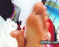 Blonde Milf Shows Off Her Feet - scene 11