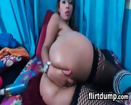 Latin Cam Slut With Fishnets - scene 12