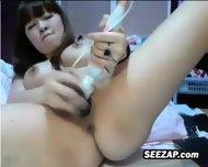 Pretty Korean Cam Slut Masturbates - scene 3